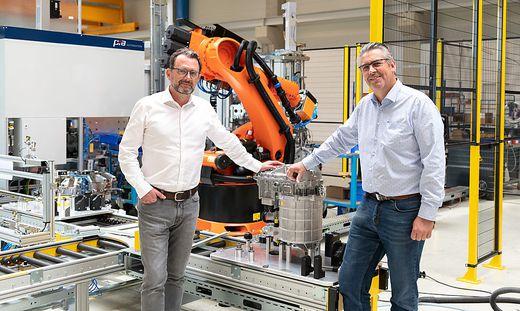 Die Geschäftsführer von PIA Automation in Grambach: Nikolaus Szlavik und Franz Reiter