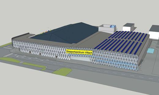 So soll das Eissportzentrum Villach aussehen