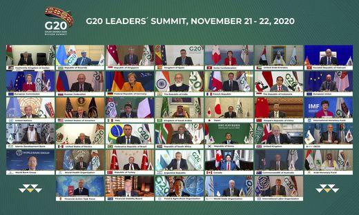 Das Treffen der G20 war diesmal nur virtuell