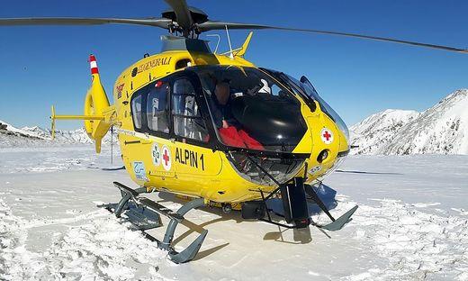 """Das verletzte Kind wurde vom """"Alpin 1"""" ins Krankenhaus geflogen"""
