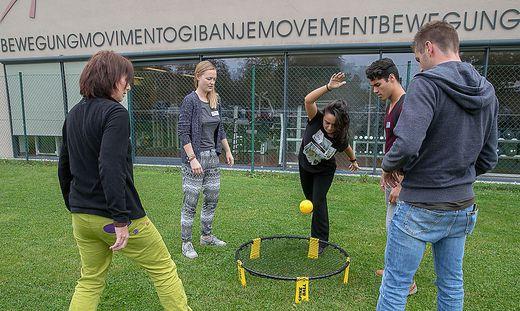 Beim Erasmus Day an der Uni Klagenfurt stellten die Studenten nicht nur geistige Beweglichkeit unter Beweis