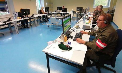 Telefonische Detektivarbeit: Landesbedienstete und Bundesheer-Soldaten beim Contact Tracing
