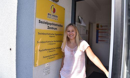 Daniela Kosch beim Pro Mente Stützpunkt in der Kolpinggasse.