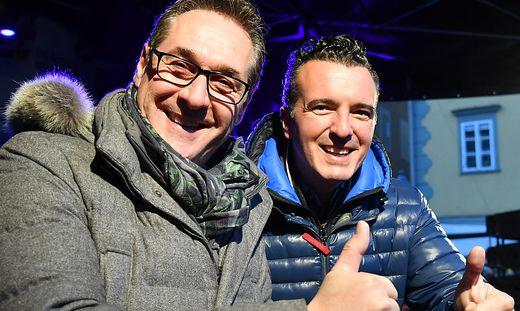 Heinz-Christian Strache und Gernot Darmann