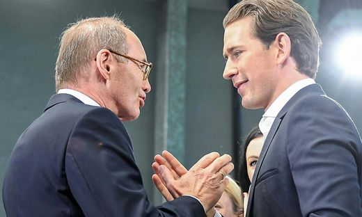 Othmar Karas und Sebastian Kurz, beide ÖVP