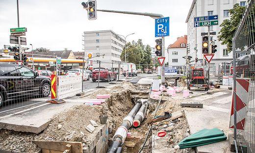 Baustellen Klagenfurt August Jaksch Strasze Ring