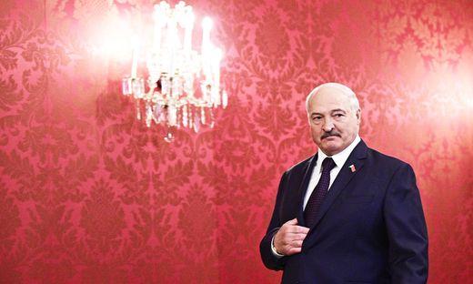 Weißrusslands Präsident Alexander Lukaschenko in Wien