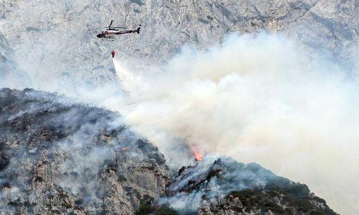 Waldbrand im Karwendelgebirge