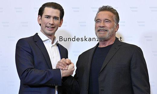 Kurz und Schwarzenegger in Wien