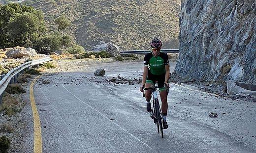 Weltmeisterin Vanessa Herzog radelt zur Zeit auf Kreta
