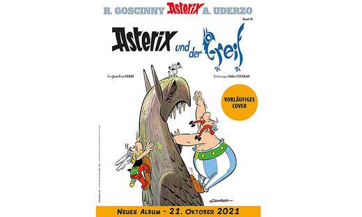 """Das vorläufige Cover von """"Asterix und der Greif"""""""