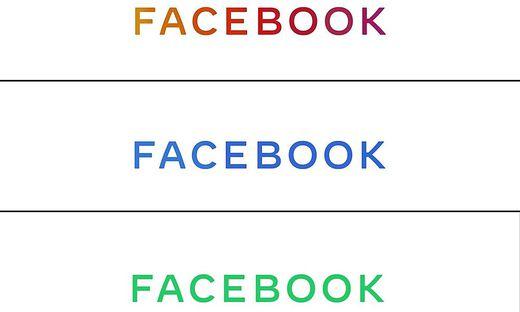 Facebooks neues Logo - neue Farben, Großbuchstaben