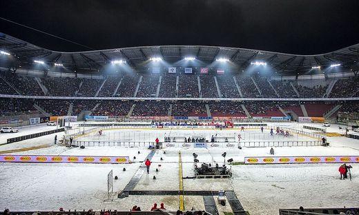 Winterclassic, Eishockey, KAC gegen VSV, Woerthersee Stadion Klagenfurt, das Spiel.