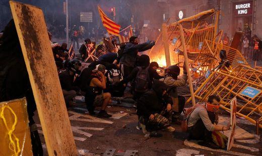 Die Proteste in Barcelona dauern an