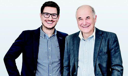 Imagotag-Geschäftsführer Andreas Rößl und Michael Moosburger