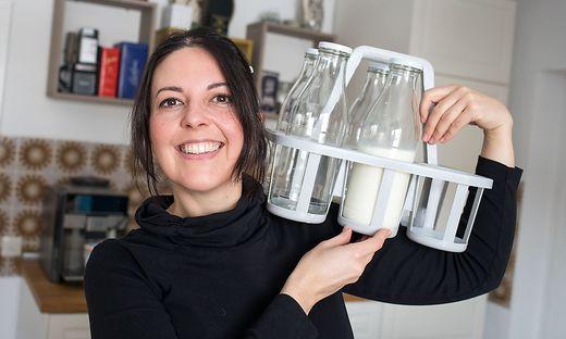 Die Milch kommt bei Elke Galvin direkt vom Bauern