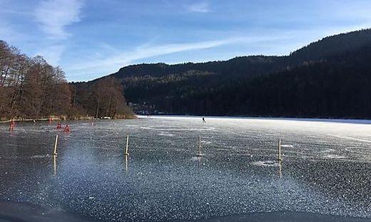 Der Rauschelesee ist ab Freitag für Eisläufer geöffnet