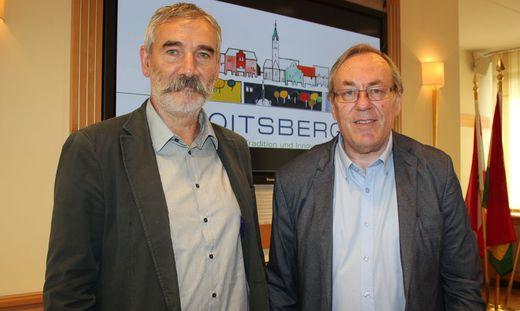Bürgermeister Ernst Meixner lobte Direktor Gerhard Zotter von der NMS als neuen SPÖ-Gemeinderat in Voitsberg an