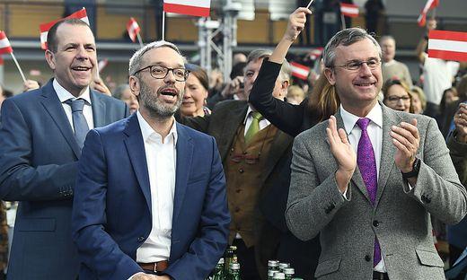 Herbert Kickl und Norbert Hofer beim Neujahrsevent der FPÖ im Jänner 2020. Seitdem gibt es kein gemeinsames Foto mehr.