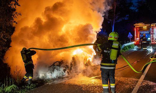 Das brennende Fluchtauto