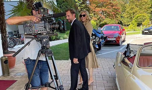 Theuermann und Schweiger bei den Dreharbeiten zum Musikvideo
