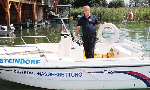 Kattnig ist bei der Wasserrettung Steindorf auch für die Ausbildung des Nachwuchses zuständig