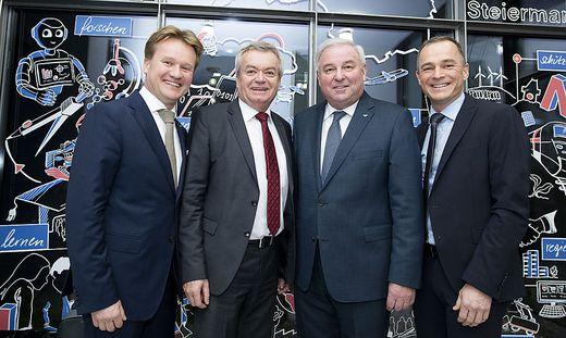 IV-Präsident Georg Knill, LH-Stellvertreter Anton Lang, LH Hermann Schützenhöfer und IV-Geschäftsführer Gernot Pagger