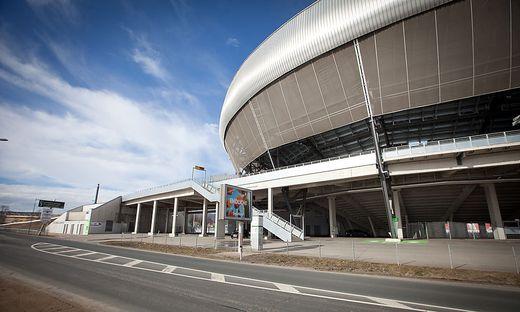 Noch ist es ruhig im Wörthersee Stadion in Klagenfurt