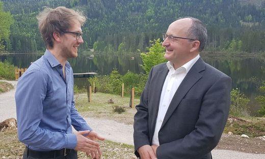 Medien.Mittelpunkt-Stipendiat Noël Križnik im Gespräch mit Christian Keuschnigg