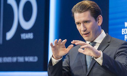 Kanzler Kurz in Davos