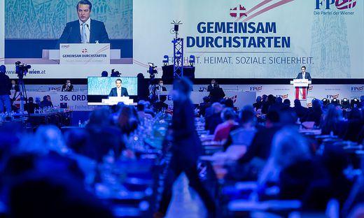 97,86 Prozent erreichte Dominik Nepp beim Wiener FPÖ-Landesparteitag.