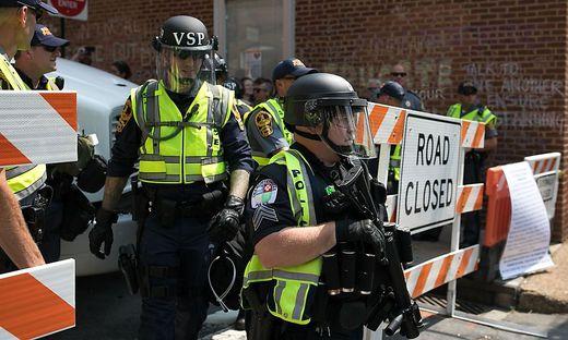 Sicherheitsvorkehrungen in Charlottesville