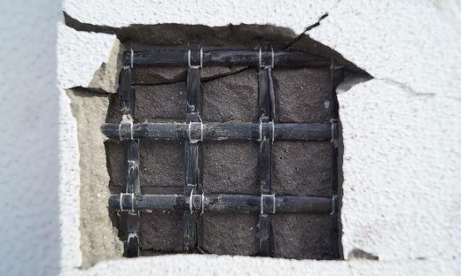 Textilbewehrung kann im Beton formstabil – genau dort wo sie benötigt wird – eingebaut werden