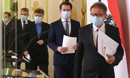 Virologisches Quartett: Anschober, Kurz, Kogler, Nehammer