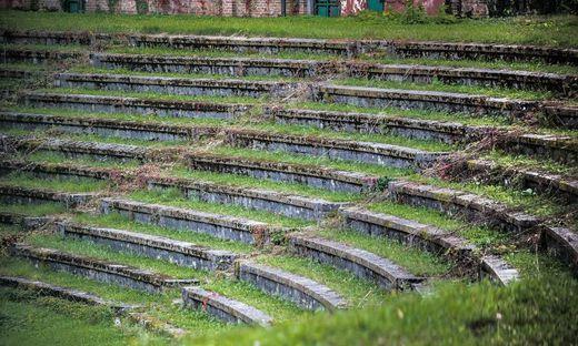 Das historische Bežigrad-Stadion mitten im Wohngebiet ist seit Jahren dem Verfall preisgegeben