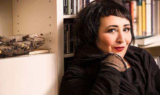 VIENNA, AUSTRIA - November 2, 2016: Austrian writer Julya Rabinowich.