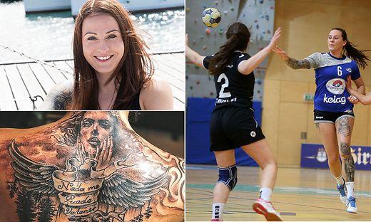 Auf dem Handballfeld kennt man Kavalar als Kämpferin, ihre Freizeit verbringt die Bodensdorferin am liebsten an der Sonne und am Meer. Unschwer zu erkennen: Tattoos sind ihre große  Leidenschaft.