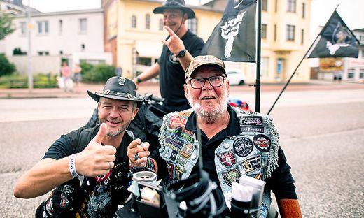 Besucher beim Wacken-Festival