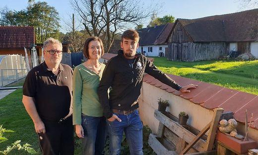 Lebensretter: Günter Lukas, Elfriede und Fabio Monschein