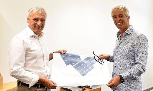 Günter Grabner (links) und Gerhard Rabensteiner erkannten früh das Potenzial der Sonnenenergie