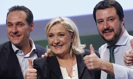 Strache, Le Pen, Salvini