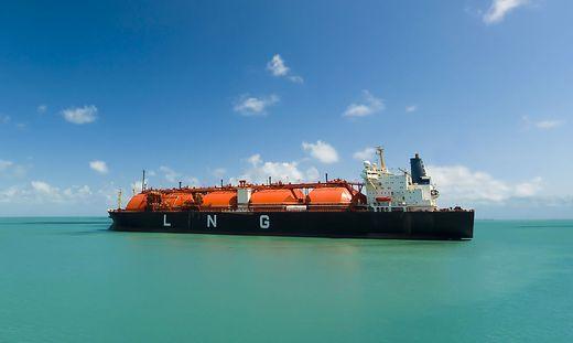 Flüssiggas wird in Schiffen transportiert