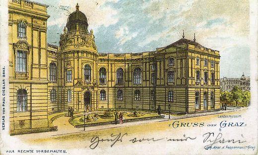 Das Landesmuseum Joanneum in einer alten Ansicht