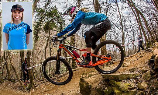 Die Villacher Mountainbikerin Yana Dobnig (19) feierte heuer in der Slo-Enduro-Serie bei drei Antreten drei Siege