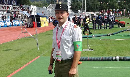 Bei der Feuerwehr-Olympiade in Villach war Hubert Kreuz der einzige Bewerter aus Kärnten