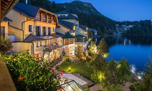 Das Seehotel ´Jägerwirt´ auf der steirischen Seite der Turracher Höhe