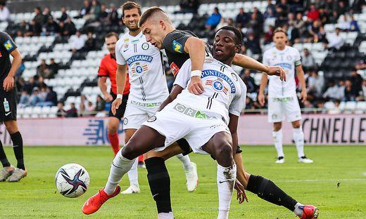 Kelvin Yeboah und der SK Sturm wollen auch durch die hohe Belastung nicht aus der Balance kommen