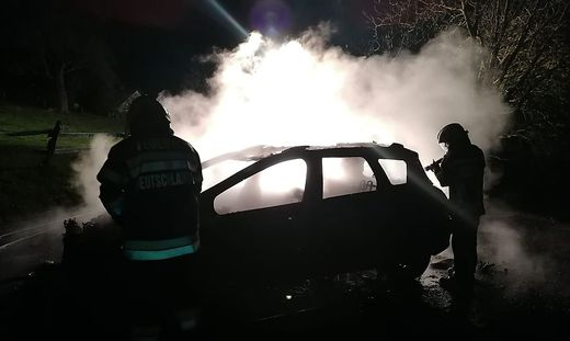 Die Feuerwehr Deutschlandsberg war mit zwölf Mann im Einsatz