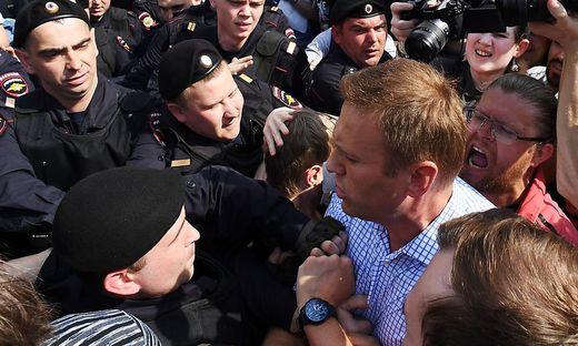 Putin-Widersacher Nawalny bei Demo in Moskau festgenommen