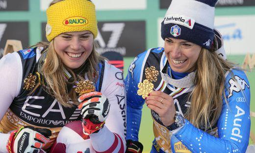 Katharina Liensberger und Marta Bassino holen zeitgleich Gold